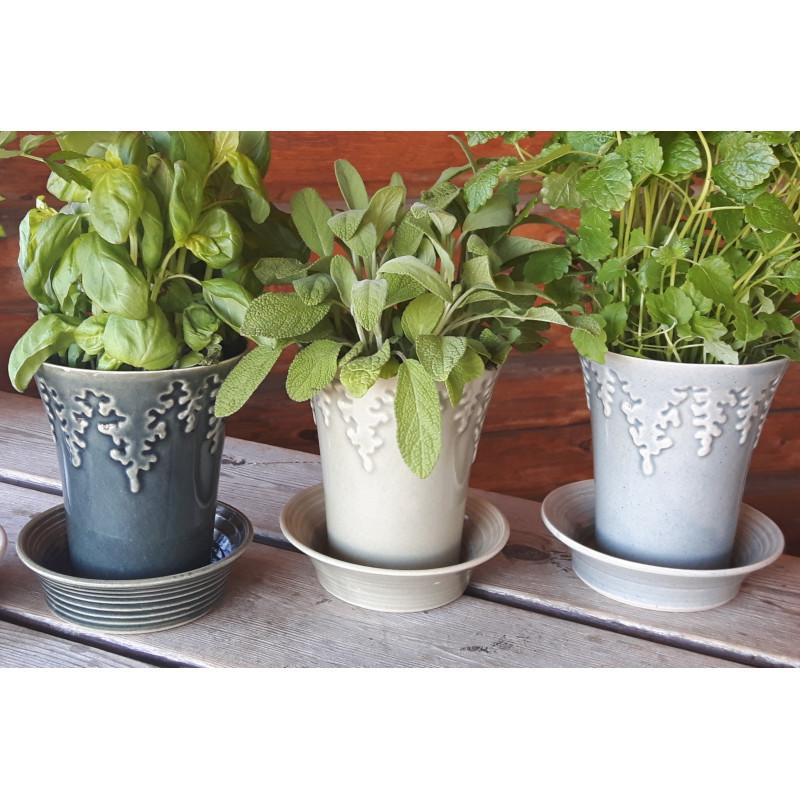 Kryddkruka i keramik i tre olika färger